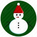 Snow Man with Red Cap icon